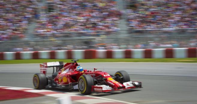 Fernando Alonso en la calificación del Gran Premio de Canadá.