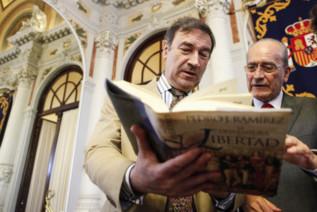 Pedro J. y el alcalde de Málaga.