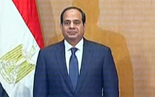 Al Sisi, durante su toma de posesión.