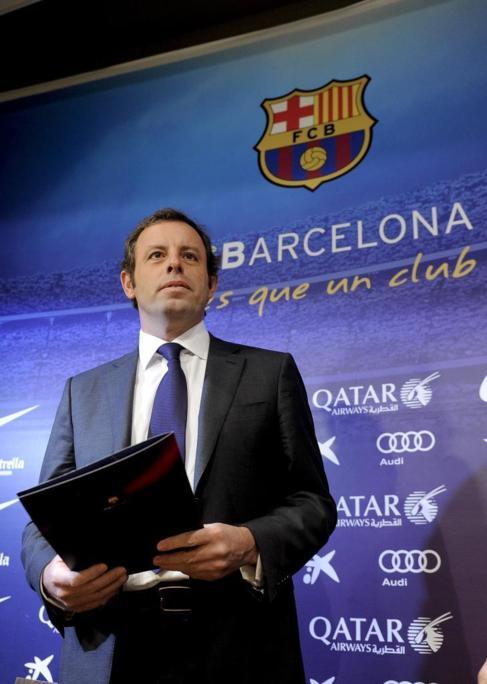 Rosell, en su última comparecencia como presidente del Barça.