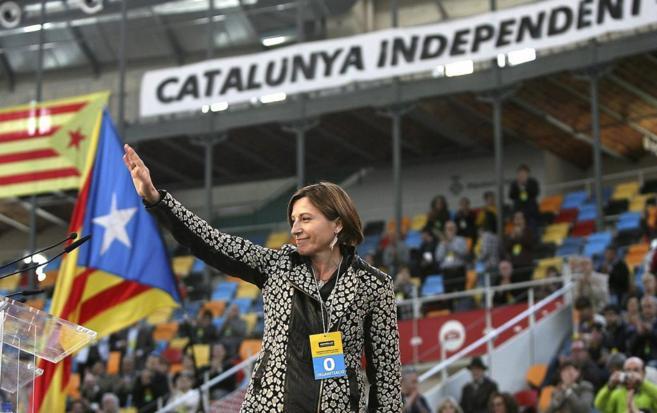 La presidenta de la Asamblea Nacional Catalana, Carme Forcadell,...