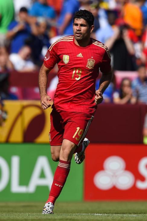 Diego Costa, durante el amistoso ante El Salvador.