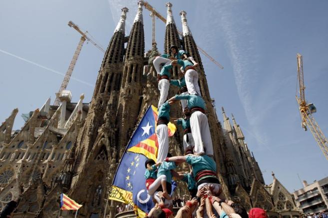 Castellers en la Sagrada Família