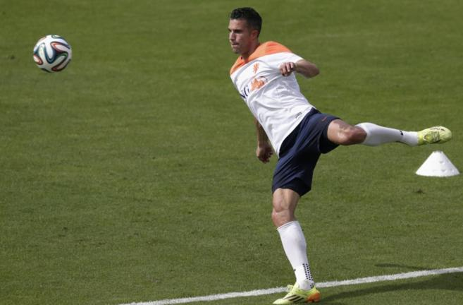 Robin Van Persie, durante un entrenamiento de la selección holandesa.