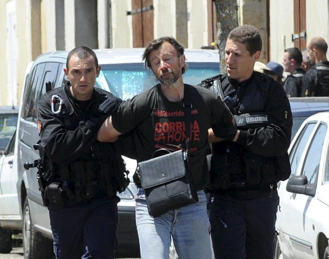 Jean-Pierre Garrigues, detenido.