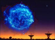 Composición de Cas A observado en radio con el VLA