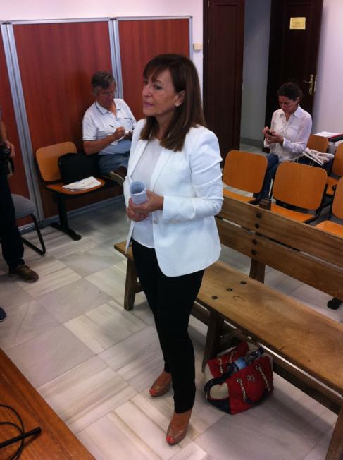 Pilar Sánchez, antes de iniciarse el juicio.