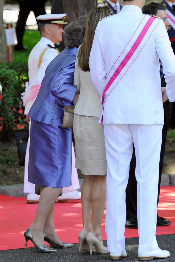 La Princesa de Asturias se mostró muy afectuosa con la reina.