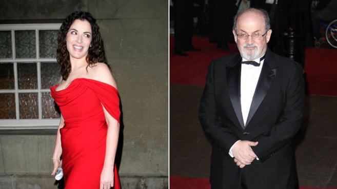 Nigella Lawson y el escritor Salman Rushdie.