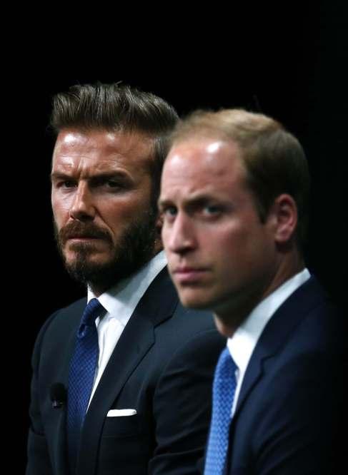 Guillermo y Beckham, este lunes.