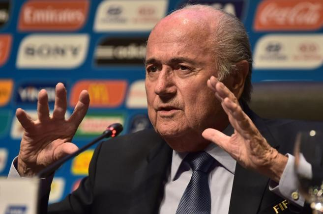 Joseph Blatter durante una rueda de prensa previa al Mundial.