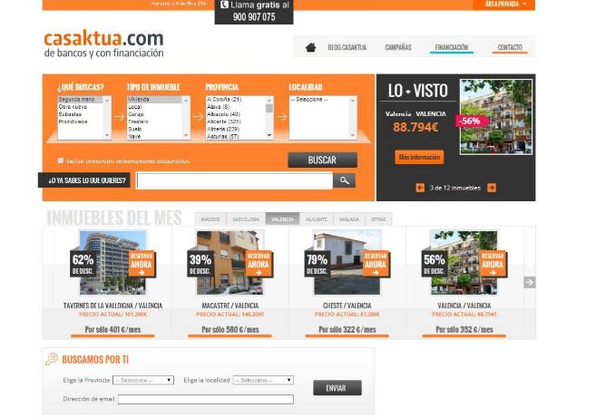 Imagen del portal inmobiliario Casaktua.com