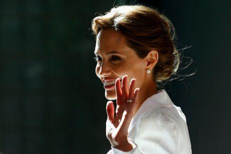 Jolie, este martes en Londres.