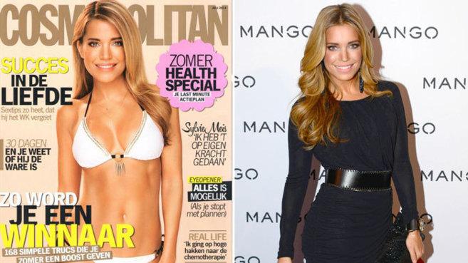 A la izquierda, la portada de 'Cosmopolitan' de la...