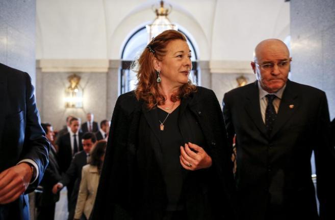 Pilar Manjón, en el homenaje a las víctimas celebrado en marzo de...