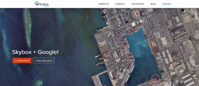 Captura de la web de Skybox Imaging.