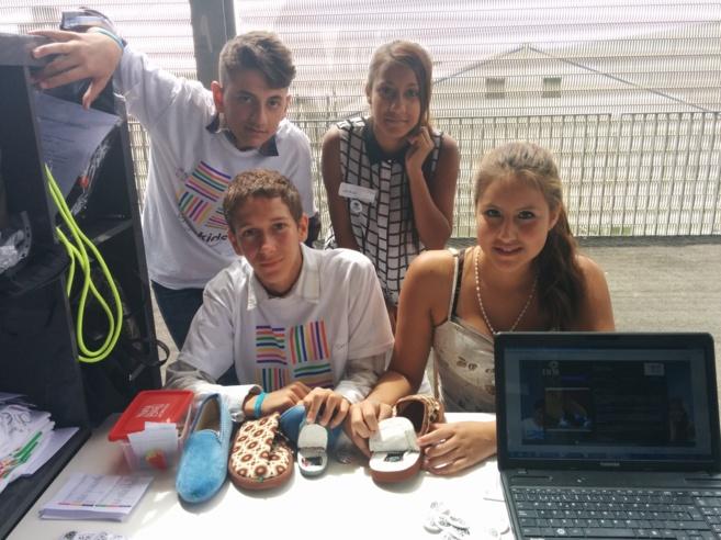 Alican, Natalia, María Isabel y Darío, del colegio Príncipe Felipe...