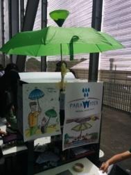 El recogedor de agua de lluvia 'Parawater', de los alumnos del Padre...