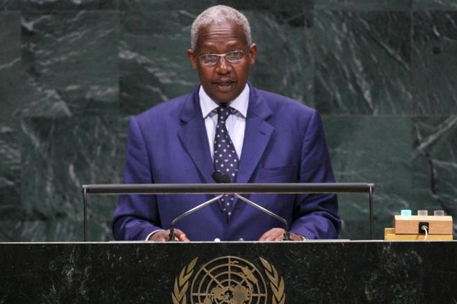 El ugandés Sam Kutesa, ex ministro de Exteriores de su país, en una...