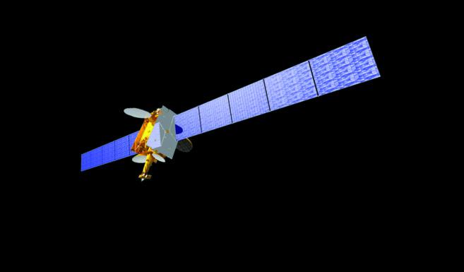 Recreación del satélite Amazonas 1.