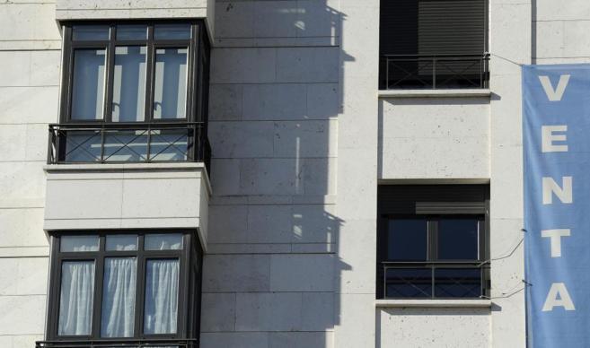 Imagen de archivo de un edificio de viviendas en venta en Madrid.