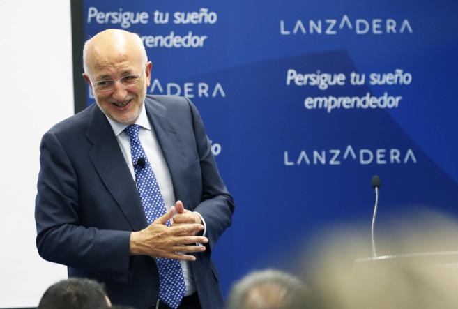 Juan Roig, durante el acto de bienvenida de los nuevos emprendedores.