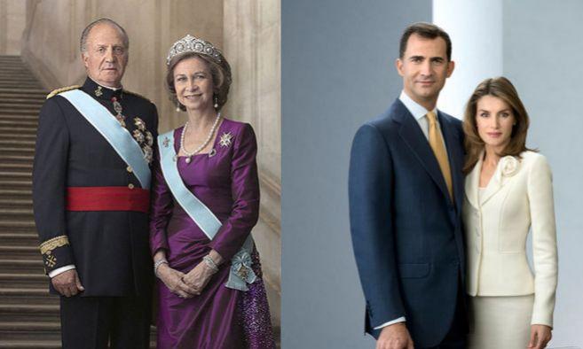 Retrato oficial de los Reyes de España y de los Príncipes de...