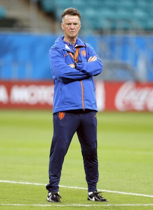 Louis van Gaal, durante un entrenamiento.