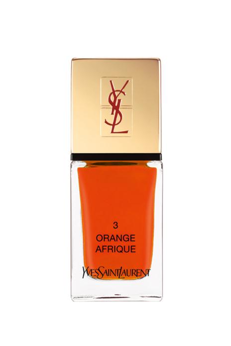 'La Laque Orange Afrique', de YSL (23,50 euros).