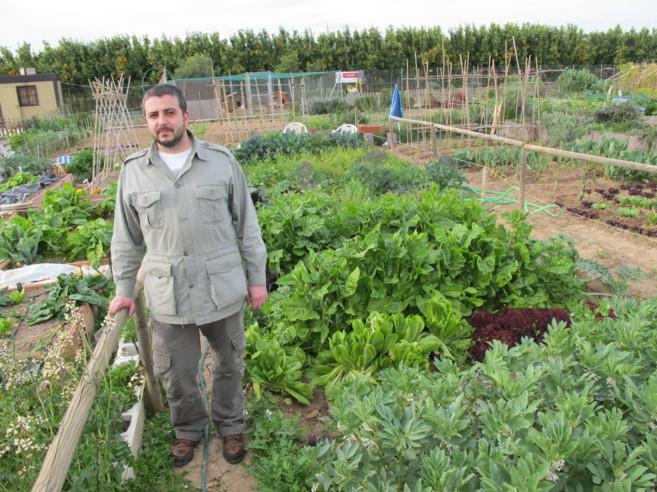 Santi Cuerda, coordinador de Huertos Compartidos.