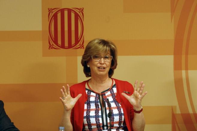 La consejera de Educación, Irene Rigau, ayer
