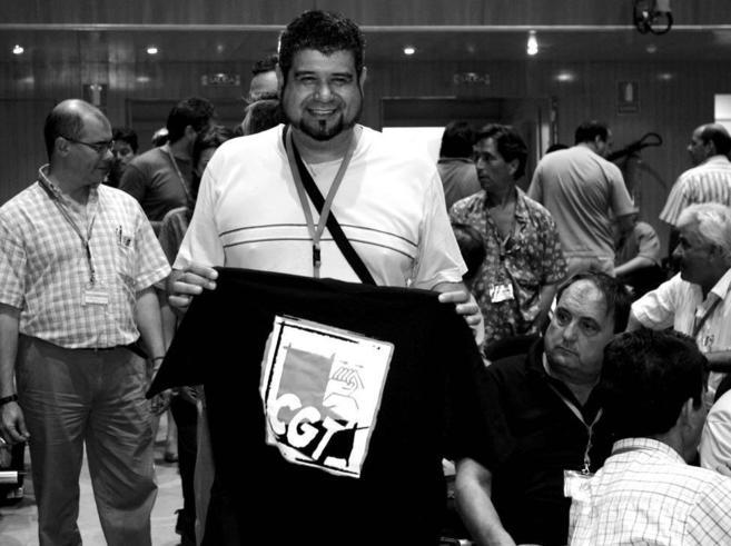 Eladio Villanueva, durante el décimoquinto Congreso de la CGT en...