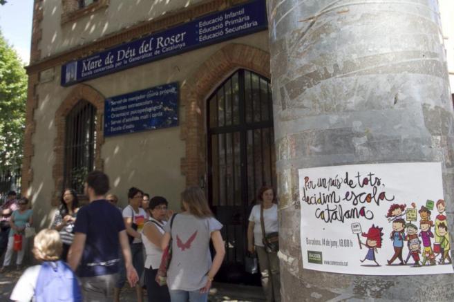 La escuela Mare de Déu Del Roser de Barcelona, uno de los colegios...