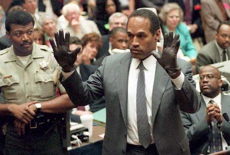 Simpson, durante el juicio.