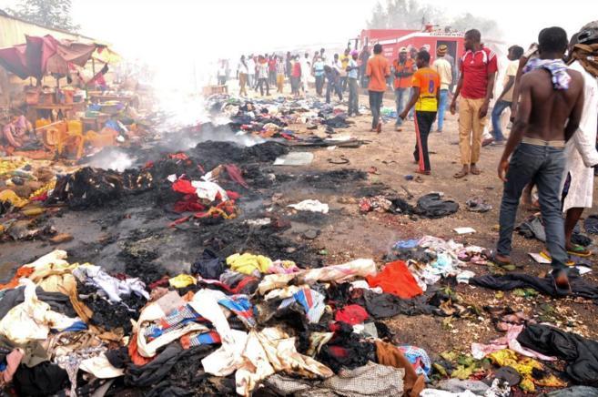 Uno de los últimos atentados cometidos en Nigeria, en la localidad de...