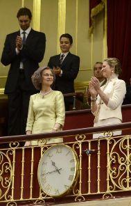Gasol, Froilán y Elena aplauden a Sofía. BERNARDO DÍAZ