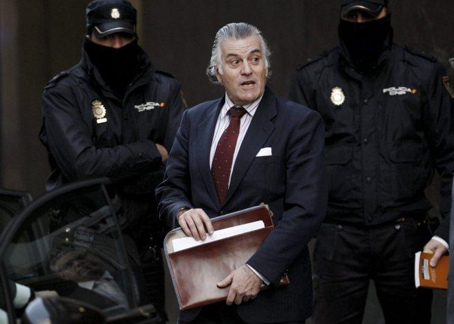 Luis Bárcenas, a su salida dela Audiencia Nacional tras prestar...