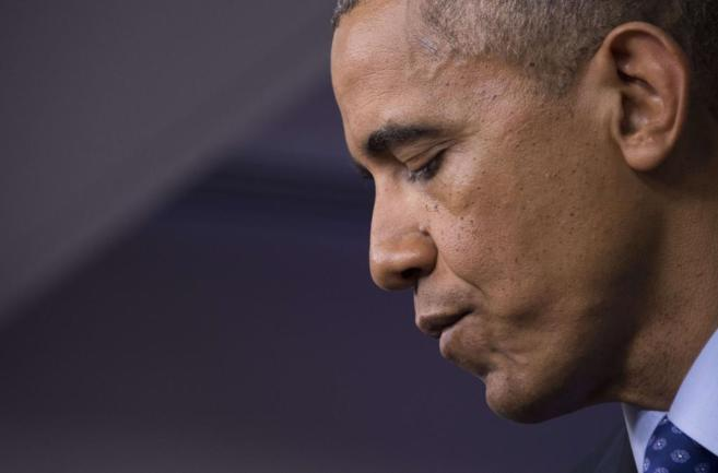 Barack Obama durante la rueda de prensa.