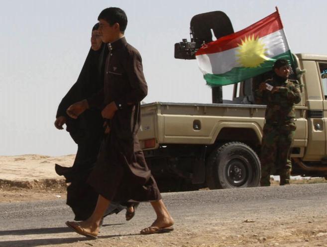 Una pareja se traslada a la ciudad de Kirkuk, controlada por las...
