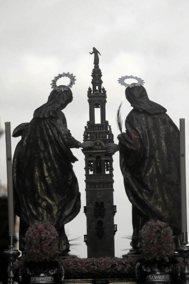 Las santas patronas, Justa y Rufina.