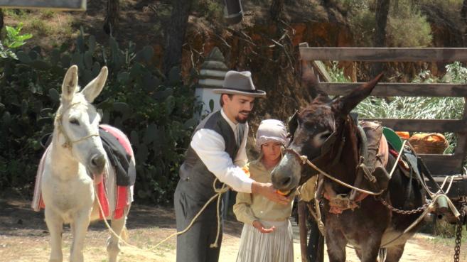 Un momento del rodaje de la película sobre Juan Ramón Jiménez.