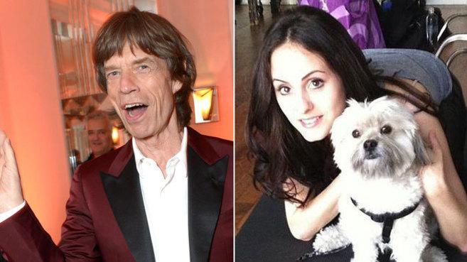 Mick Jagger y la bailarina Melanie Hamrick, de 28 años.