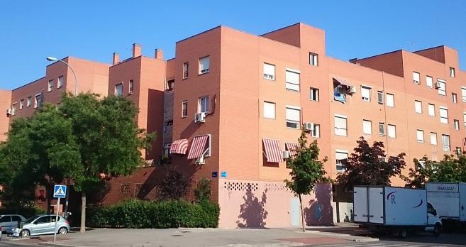 El edificio donde viven los Afalah en el municipio madrileño de...