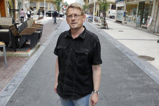 Mikel Mazkiaran, miembro de SOS Racismo en Gipuzkoa.