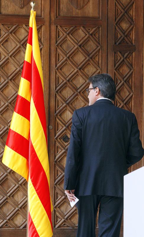 El presiente de la Generalitat de Cataluña, Artur Mas