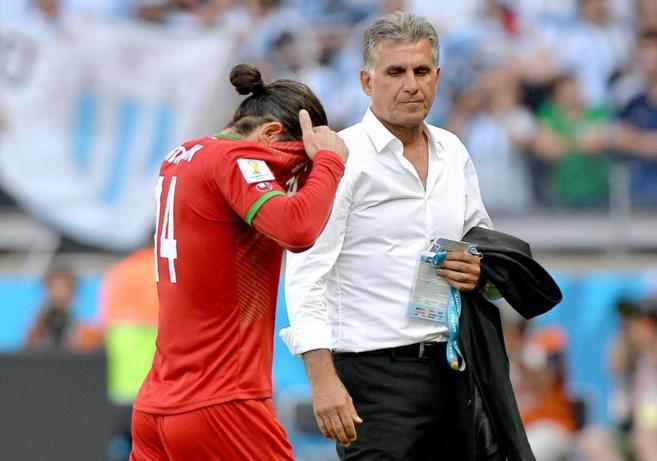 Andranik Timotian se lamenta tras el partido de Argentina ante la...