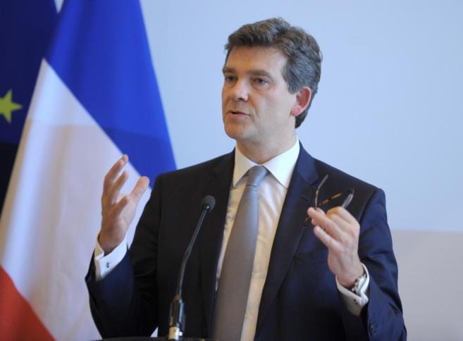 El ministro de Economía francés, Arnau Montebourg, habla sobre...