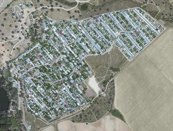 Vista aérea de Caravan Garden, en Aldea del Fresno.