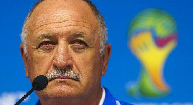 El entrenador de la selección de Brasil, Luiz Felipe Scolari.