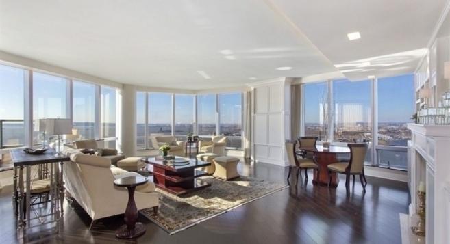 Una de las grandes estancias de la exclusiva propiedad neoyorquina.